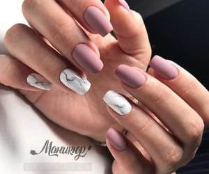 nails, beautiful, and pink image