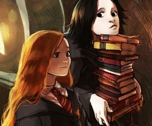 harry potter, severus snape, and books image