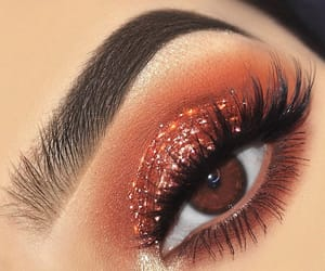 glitter, makeup, and lashes image