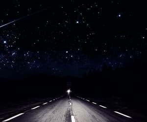 stars, road, and night image