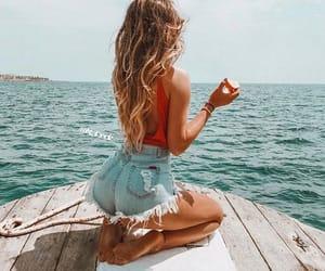 beach, water, and ocean image