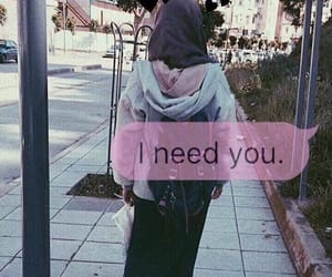 dz, hijab, and i miss you image