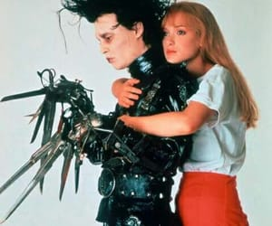 edward scissorhands, johnny depp, and tim burton image