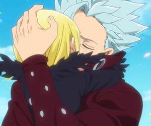 the seven deadly sins, hug, and elaine image