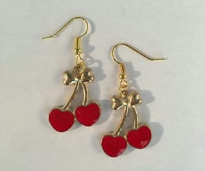 cherry, red, and earrings image
