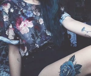 article, flowers, and tattoo image
