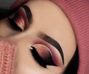eye makeup, lashes, and powder image