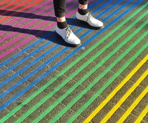 colorful, colors, and crosswalk image