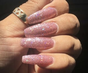 nails, glitter nails, and sparkle nails image
