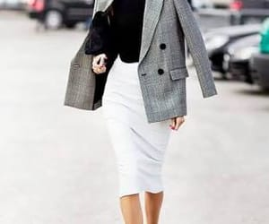 business, grey and white, and heels image