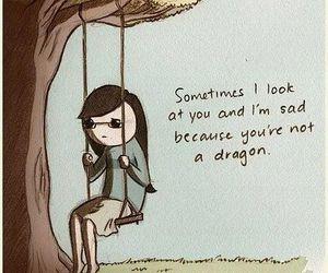 dragon, funny, and sad image