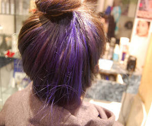 hair, purple, and cool image