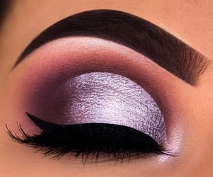 brow, lashes, and purple image