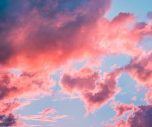 aesthetic, sky, and pink image