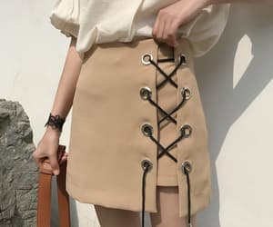 skirt, aesthetic, and beige image