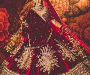 bride, india, and wedding goals image
