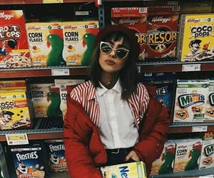 cereal, girl, and glasses image