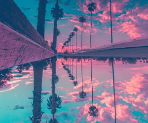 nature, pink, and sky image