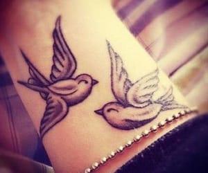 art, tattoo, and birds image
