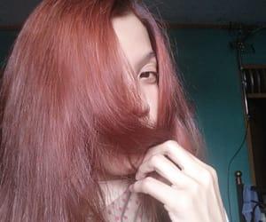 crimson rose, hair color, and makarizo image