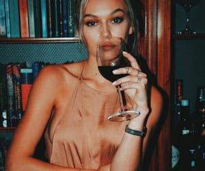 beauty, girl, and wine image