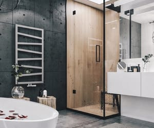 bathroom, home decor, and modern image