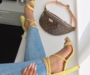 heels, bag, and luxury image
