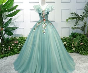backless, ball gown, and flower fairy image