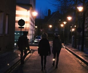 night, photography, and friends image