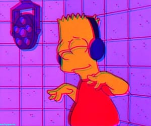 music, simpsons, and bart image