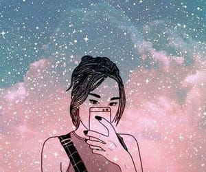galaxy and girl image