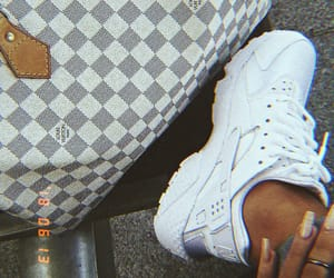 nike, Louis Vuitton, and nails image