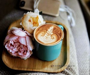 peonies and coffee image
