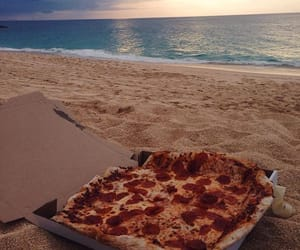sea pizza lover sunset image