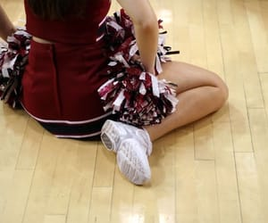 cheerleader, red, and aesthetic image