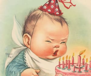 baby, happy birthday, and vintage image