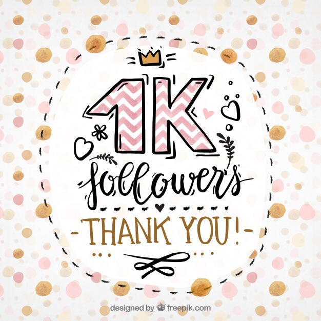 followers, 1k, and thank you! image