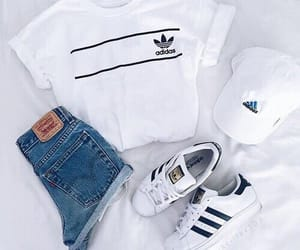 adidas, jeans, and casquette image
