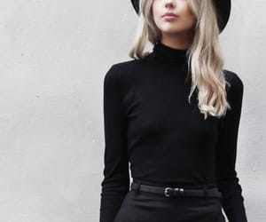 black, fashion, and hat image