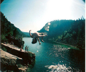 summer, boy, and jump image