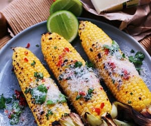 corn, food, and healthy image