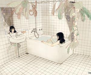 aesthetic, art, and bathroom image