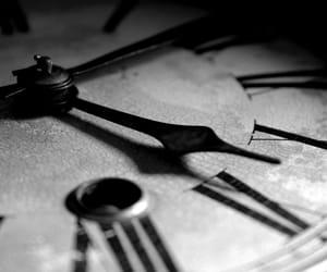 b&w, beautiful, and clocks image