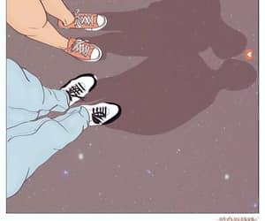 cartoon, couple, and goals image