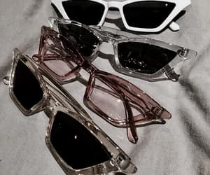 glasses, style, and pink image