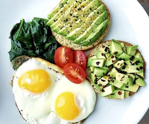 healthy, breakfast, and avocado image