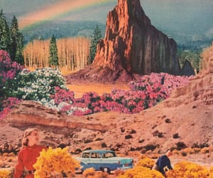 aesthetic, collage art, and rainbow image