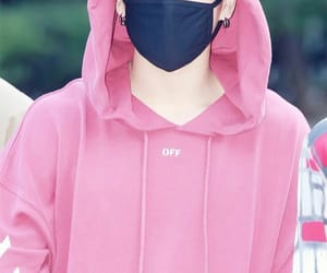 aesthetic, jeon jungkook, and pink aesthetic image