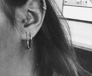 black and white, ear, and me image