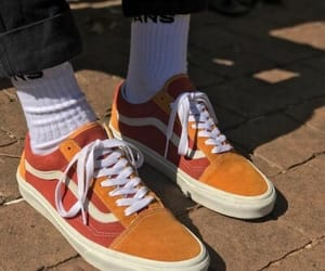 orange, vans, and carefree image